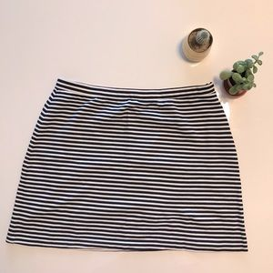 White and blue Striped skirt
